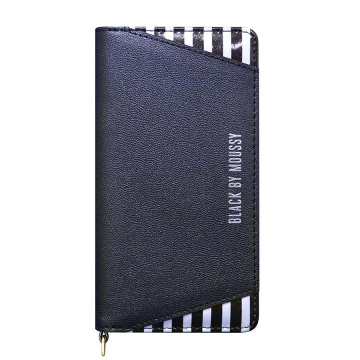 iPhone6s/6 ケース BLACK BY MOUSSY 手帳型ケース ストライプ/ブラック iPhone 6s/6_0