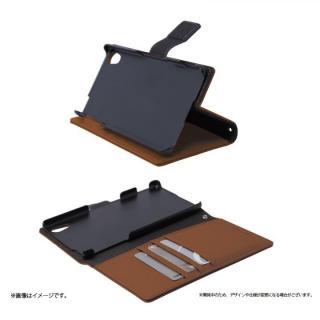 手帳型PUレザーケース BOOK S(スマート) ブラウン Xperia Z4_1