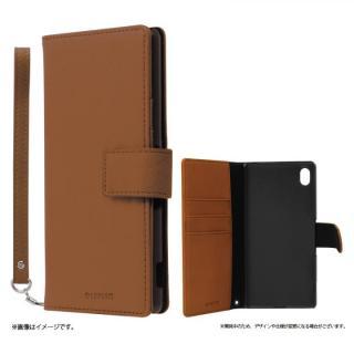 手帳型PUレザーケース BOOK S(スマート) ブラウン Xperia A4