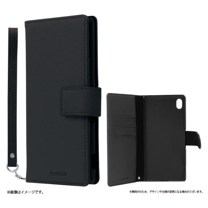 手帳型PUレザーケース BOOK S(スマート) ブラック Xperia A4_0