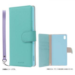 手帳型PUレザーケース BOOK C(キュート) グリーン Xperia A4