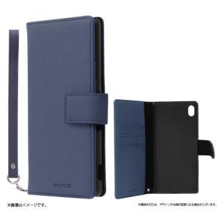 手帳型PUレザーケース BOOK S(スマート) ネイビー Xperia A4