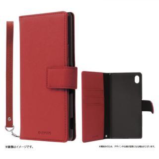 手帳型PUレザーケース BOOK S(スマート) レッド Xperia A4