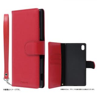 手帳型PUレザーケース BOOK A(エース) レッド Xperia A4