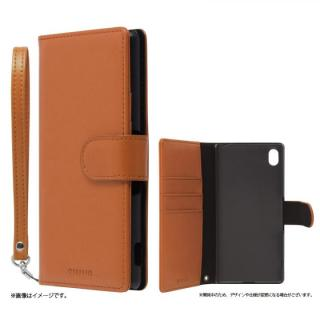 手帳型PUレザーケース BOOK A(エース) キャメル Xperia A4