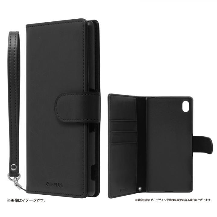 手帳型PUレザーケース BOOK A(エース) ブラック Xperia A4