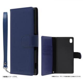 手帳型PUレザーケース BOOK A(エース) ネイビー Xperia A4