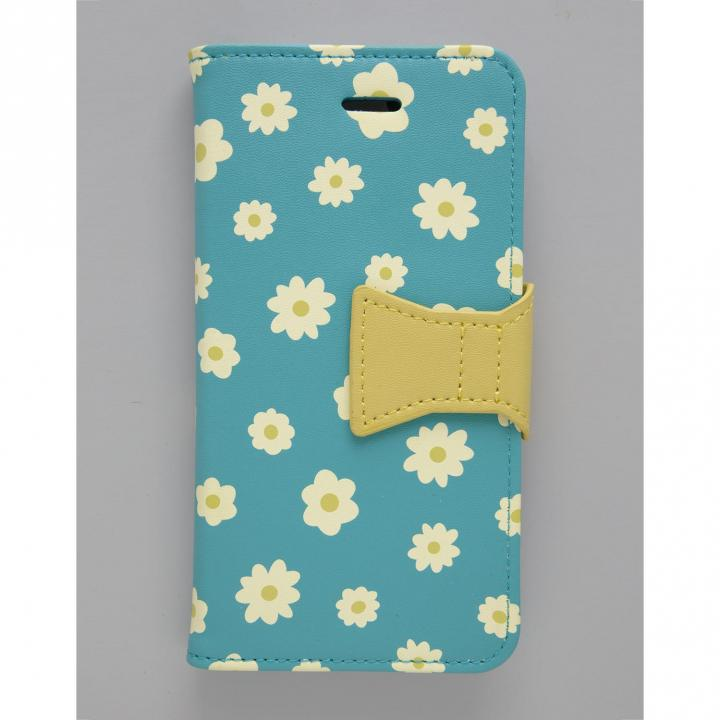 【iPhone6s/6ケース】フラワーリング 手帳型ケース 花柄/ブルー iPhone 6s/6_0