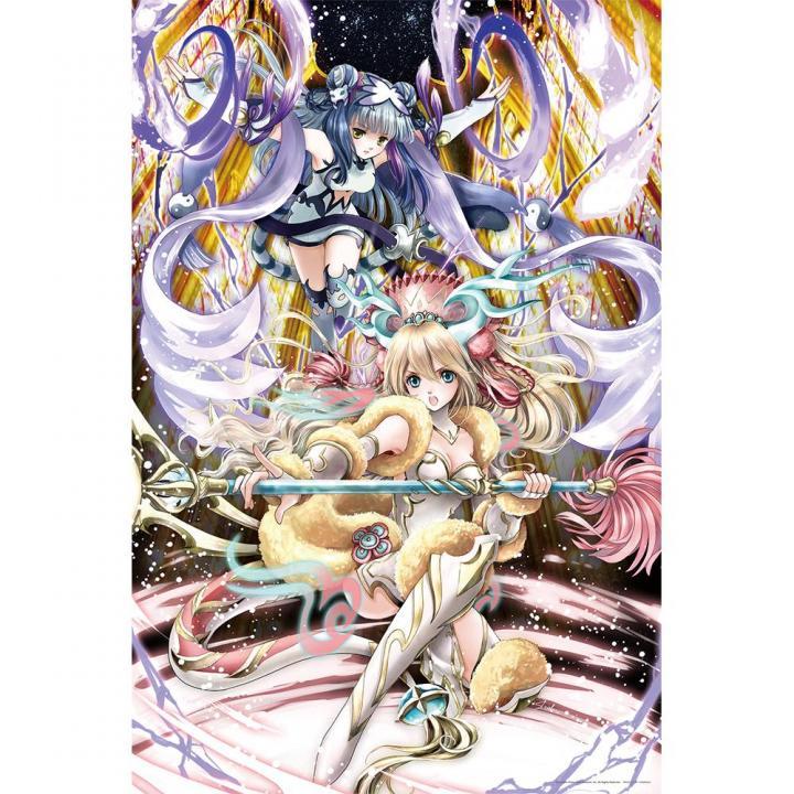 【1000ピース】  ジグソーパズル 「二神麗舞 ‐麒麟と白虎‐」 パズドラ