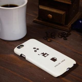 【iPhone6s/6ケース】デザインレザーカバー CAFFE DE COELA オフホワイト iPhone 6s/6