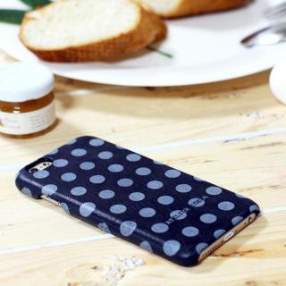【iPhone6s/6ケース】デザインレザーカバー ドット柄 ブラック iPhone 6s/6