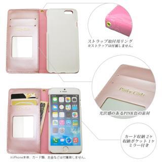 【iPhone6s/6ケース】Pinky Girls リボンタイプ手帳型ケース ピンク iPhone 6s/6_1