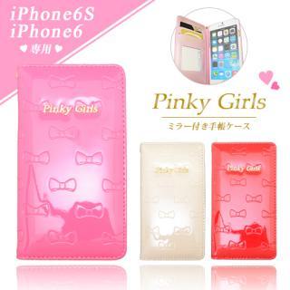 【iPhone6s/6ケース】Pinky Girls リボンタイプ手帳型ケース ピンク iPhone 6s/6_3