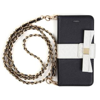 VIVAYOU リボン手帳型ケース ブラック&ホワイト iPhone 6s/6