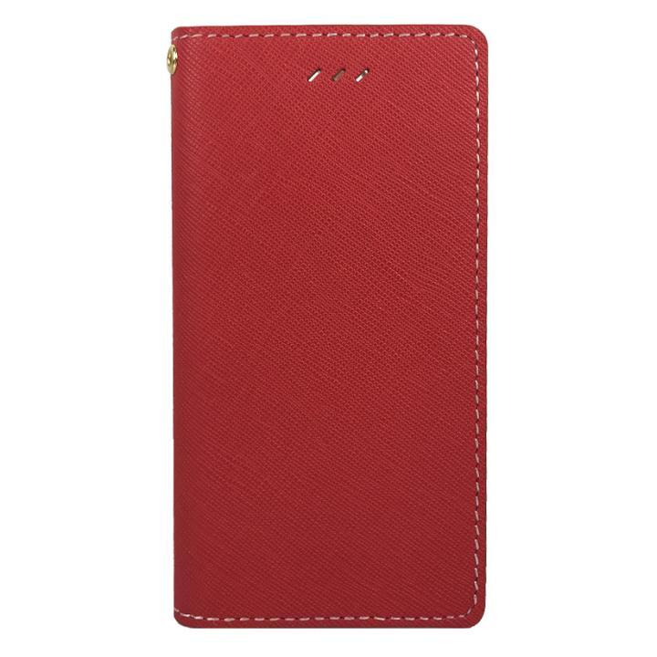 DESIGNSKIN サフィアーノレザー手帳型ケース レッド iPhone 6s/6