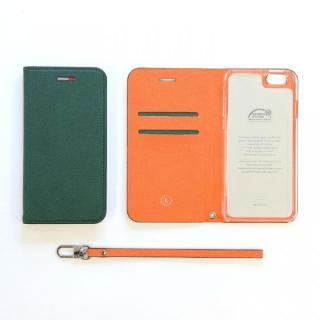 invite.L イタリアンPU手帳型ケース ダークグリーン iPhone SE/5s/5