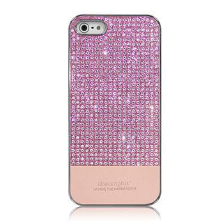[強靭発売記念特価]Dreamplus ペルシャンネオ クリスタルストーンケース ピンク iPhone SE/5s/5