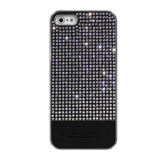 [強靭発売記念特価]Dreamplus ペルシャンネオ クリスタルストーンケース ブラック iPhone SE/5s/5