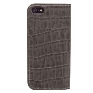iPhone SE/5s/5 ケース Dreamplus ワナビーレザー手帳型ケース グレー iPhone SE/5s/5