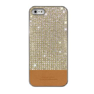 iPhone SE/5s/5 ケース Dreamplus ペルシャンネオ クリスタルストーンケース ゴールド iPhone SE/5s/5