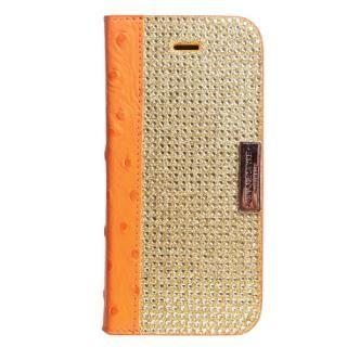 iPhone SE/5s/5 ケース Dreamplus ワナビーレザー手帳型ケース オレンジ iPhone SE/5s/5