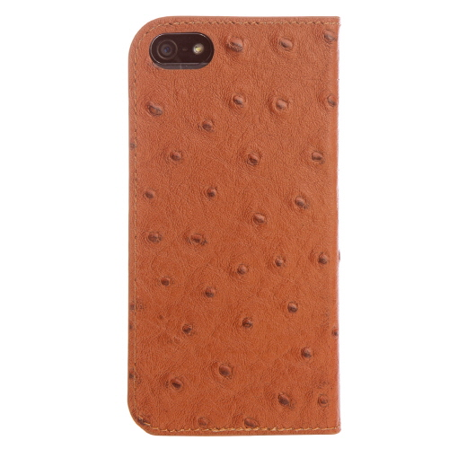 iPhone SE/5s/5 ケース Dreamplus ワナビーレザー手帳型ケース ブラウン iPhone SE/5s/5_0