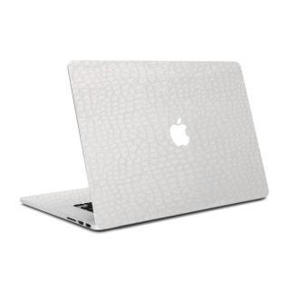 MacBook Air 13インチ専用レザー調プレミアムスキンシール【アリゲーターホワイト】
