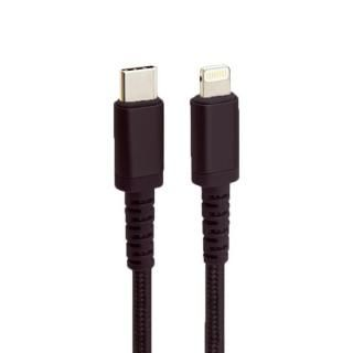 MFi認証 Nylon ToughLine USB-C to Lightningケーブル PD 急速充電対応 高耐久 20cm ブラック