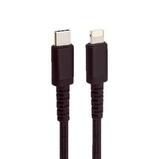 MFi認証 Nylon ToughLine USB-C to Lightningケーブル PD 急速充電対応 高耐久 50cm ブラック
