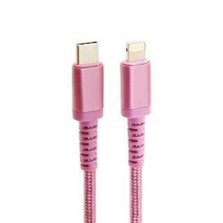 MFi認証 Nylon ToughLine USB-C to Lightningケーブル PD 急速充電対応 高耐久 20cm ピンク