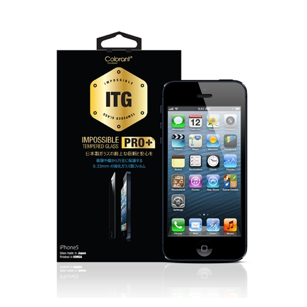 iPhone SE/5s/5 フィルム ITG PRO Plus Impossible Tempered Glass 強化ガラス iPhone SE/5s/5c/5_0