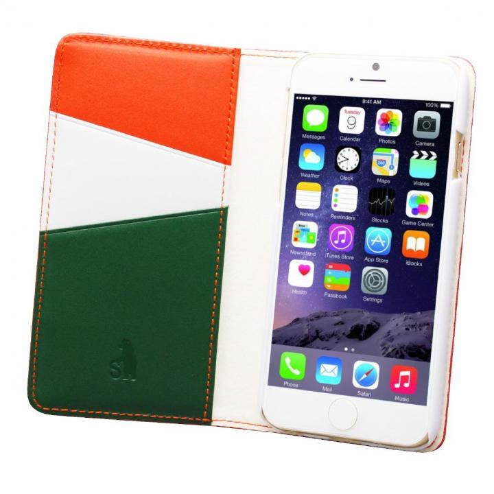 バンディエラ 手帳型本革ケース オレンジ iPhone 6
