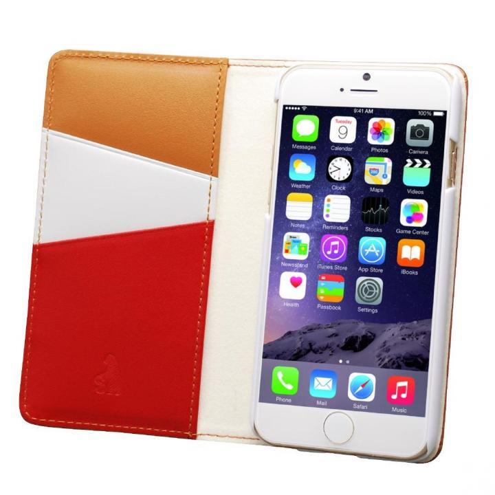 バンディエラ 手帳型本革ケース ベージュ iPhone 6