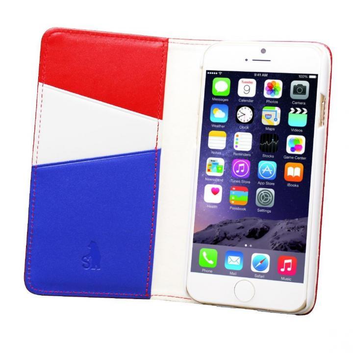 【iPhone6ケース】バンディエラ 手帳型本革ケース レッド iPhone 6_0