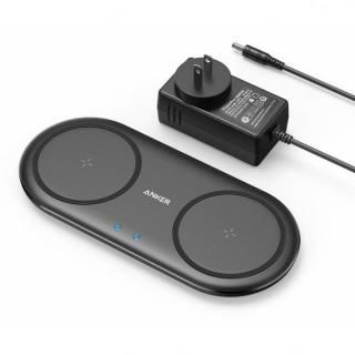 Anker PowerWave 10 Dual Pad パッド型ワイヤレス充電 ブラック【6月下旬】