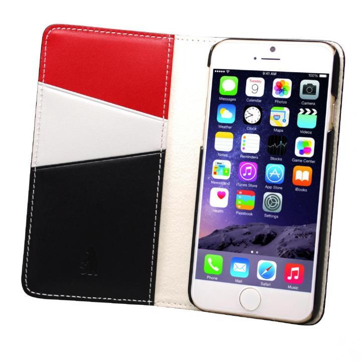 【iPhone6ケース】バンディエラ 手帳型本革ケース ブラック iPhone 6_0