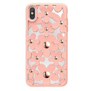 【iPhone XS Maxケース】SwitchEasy Fleur ピンク iPhone XS Max