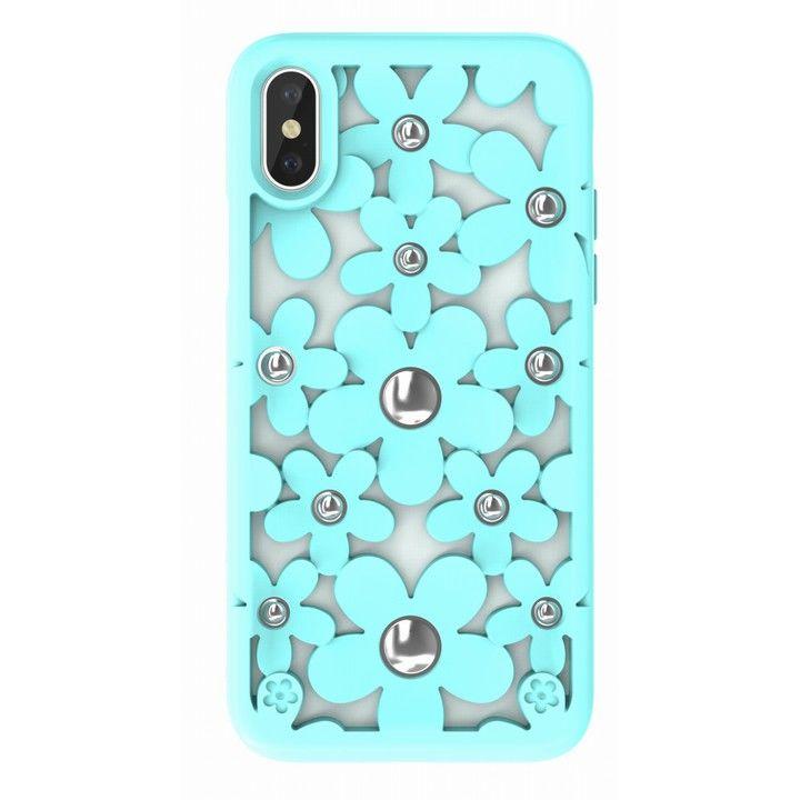 iPhone XS/X ケース SwitchEasy Fleur ミント iPhone XS/X_0