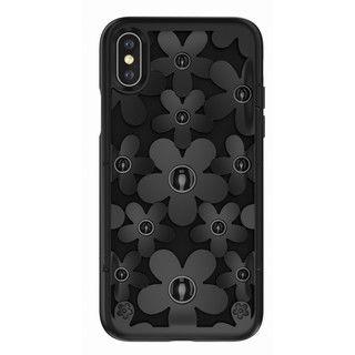 iPhone XS/X ケース SwitchEasy Fleur ブラック iPhone XS/X