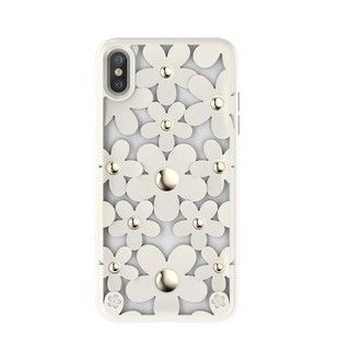 iPhone XS/X ケース SwitchEasy Fleur ホワイト iPhone XS/X
