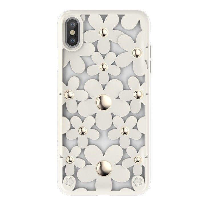 【iPhone XS Maxケース】SwitchEasy Fleur ホワイト iPhone XS Max_0
