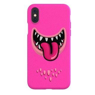 【iPhone XS Maxケース】SwitchEasy Monsters ピンク iPhone XS Max