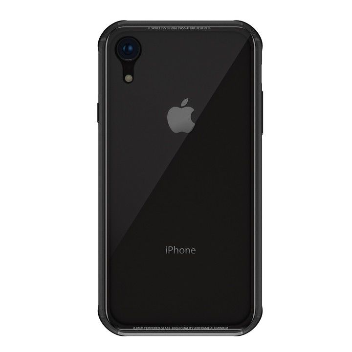 iPhone XR ケース SwitchEasy iGLASS ブラック iPhone XR_0