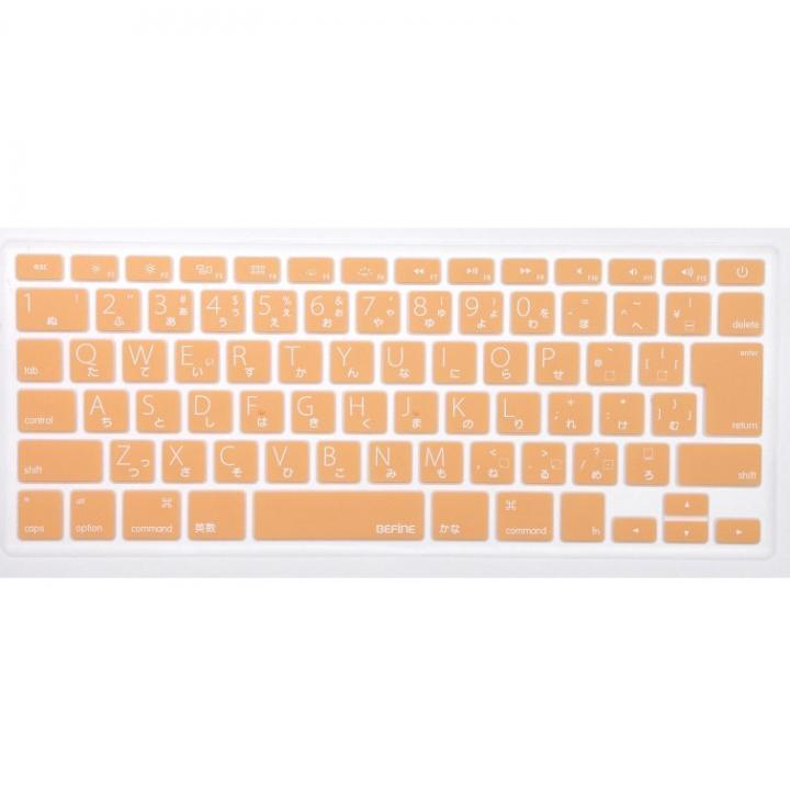 キースキン MacBook Air 13 Pro Retinaディスプレイ用 キーボードカバー オレンジ_0