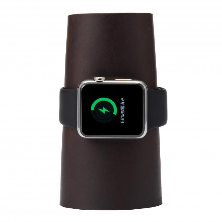 本革製のApple Watch用充電スタンド CARRY