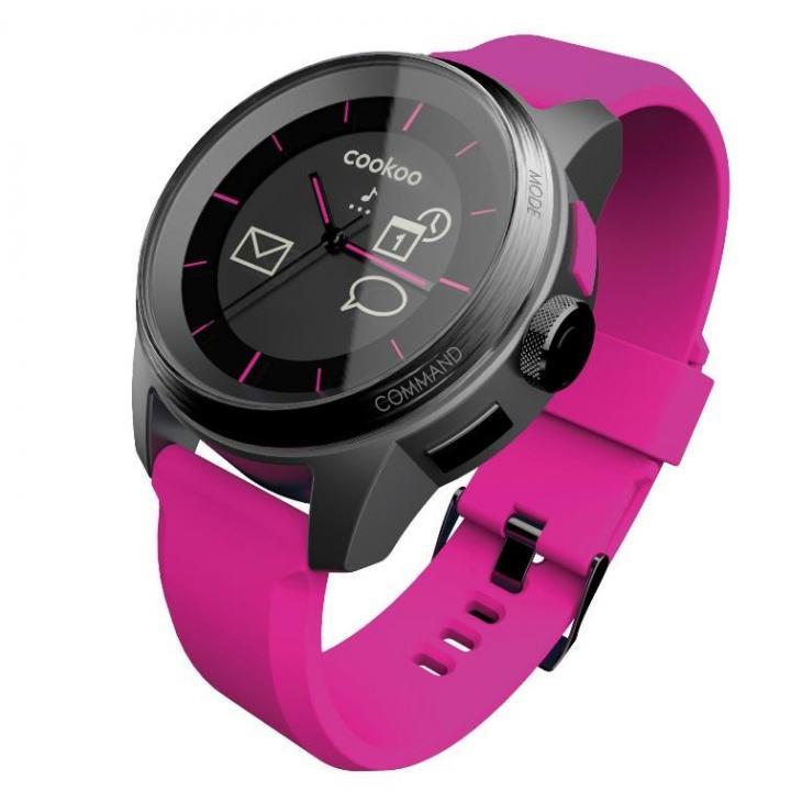 スマートフォン連動腕時計 COOKOO watch ピンク