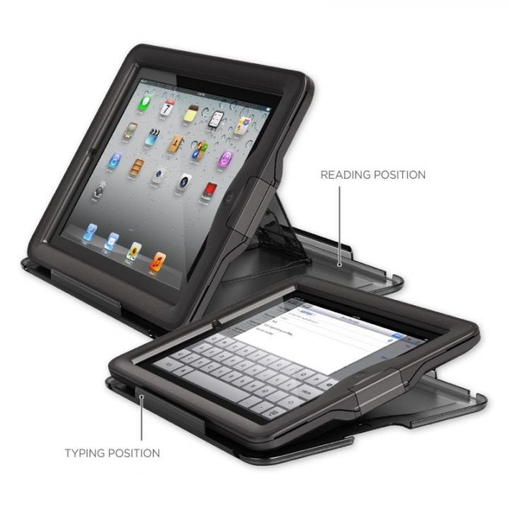 防水なのに液晶画面に直接触れる LifeProof nuud iPad(第2-4世代)ケース ブラック_0