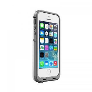 防水なのにTouchID対応 LifeProof fre ホワイト/グレイ iPhone SE/5s/5ケース