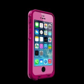 防水なのにTouchID対応 LifeProof fre ダークマゼンタ/マゼンタ iPhone SE/5s/5ケース
