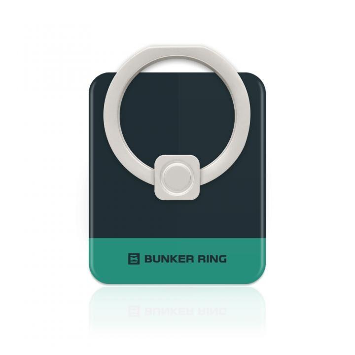 BUNKER RING Edge スマホリング 落下防止 Black/TurquoiseGreen_0
